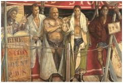 《礼拝》1962-63年 油彩・カンヴァス 114.8×147.0cm パリ市立近代美術館蔵